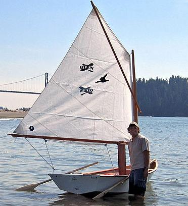 stitch & glue sailboat