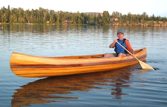 strip planked canoe boat plans