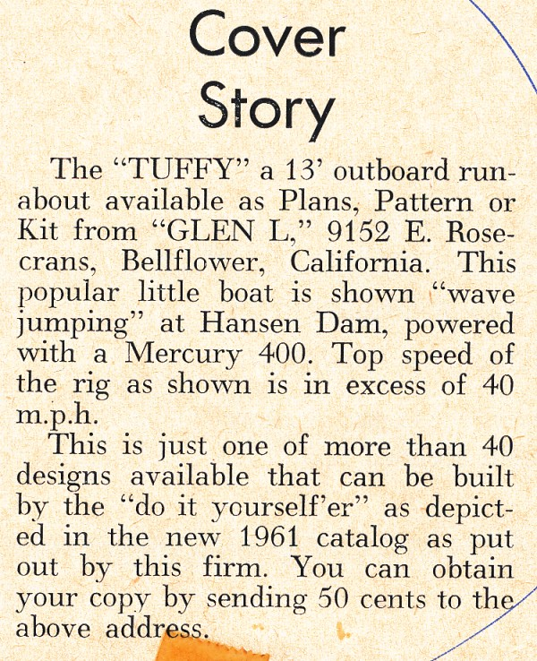 Tuffy Runabout Cover Story