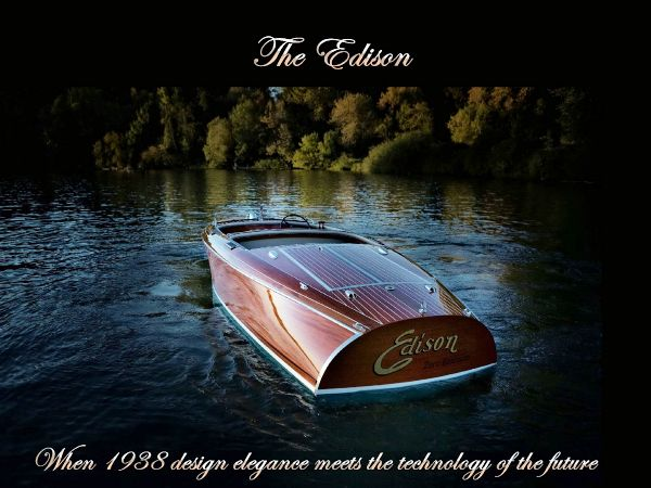 Electric mahogany runabout