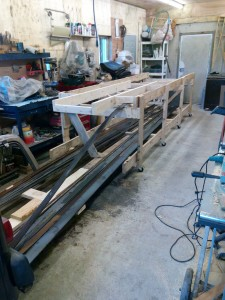 Building frame with all hull framing steel