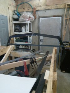 Frame #1 in place