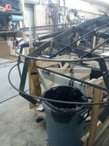 And NOOOO, the trash can was not there when I was welding or cutting.