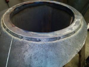 Finish welded and indexed piece.
