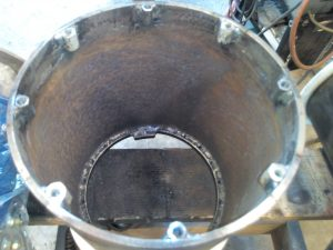 Upper mounting lugs in turrets.