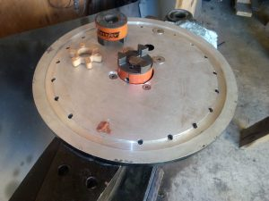 Turret bottom transition plate.